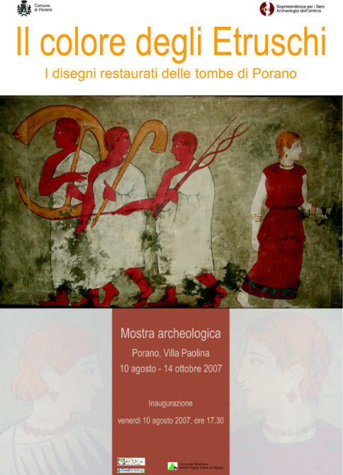 "Locandina Mostra Archeologica ""I Colori degli Etruschi"""